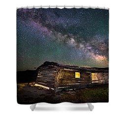 Cunningham Cabin After Dark Shower Curtain