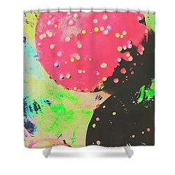 Cup Cake Birthday Splash Shower Curtain