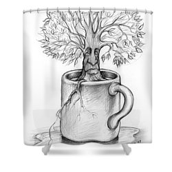 Cup-o-tree Shower Curtain