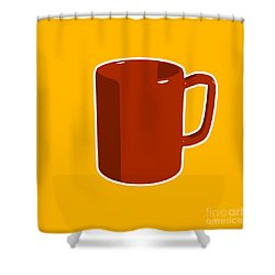 Cup Of Coffee Graphic Image Shower Curtain by Pixel Chimp
