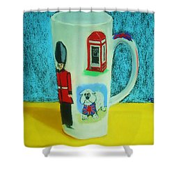 Cup Of London Java Shower Curtain