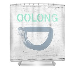 Cup Of Oolong Tea- Art By Linda Woods Shower Curtain