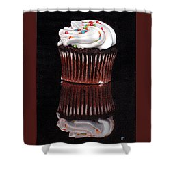 Cupcake Reflections Shower Curtain