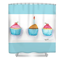 Cupcakes?  Shower Curtain by Isabel Proffit