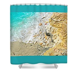 The Sea Below Shower Curtain by Expressionistart studio Priscilla Batzell