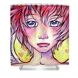 Cupid Boy Shower Curtain by Nada Meeks
