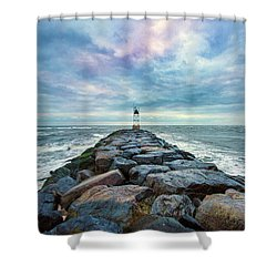 Cupsogue Clouds At Dusk Shower Curtain