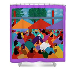 Curacao Market Shower Curtain