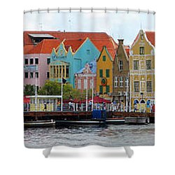 Curacao Willemstad Panorama Shower Curtain