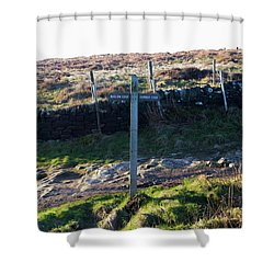 Curbar Edge Which Way To Go Shower Curtain