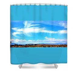 Dragon Cloud Over Suburbia Shower Curtain