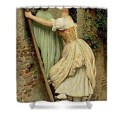 Curiosity Shower Curtain by Eugen Von Blaas