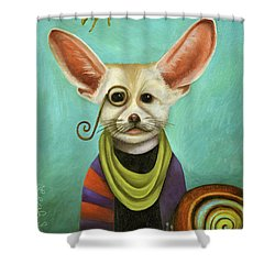 Curious As A Fox Shower Curtain by Leah Saulnier The Painting Maniac