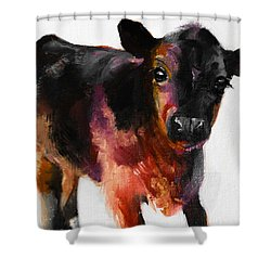 Buster The Calf Painting Shower Curtain