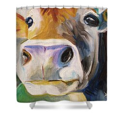 Curious Cow Shower Curtain