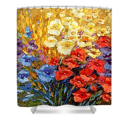 Shower Curtain featuring the painting Curiously Creative by Tatiana Iliina