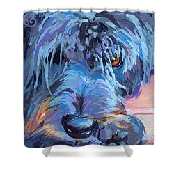 Curl Shower Curtain by Kimberly Santini