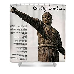 Curley Lambeau Shower Curtain