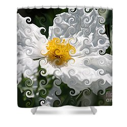 Curlicue Fantasy Bloom Shower Curtain