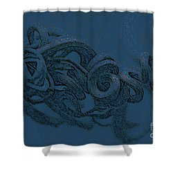 Shower Curtain featuring the digital art Curly Swirly by Kim Henderson