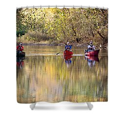 Shower Curtain featuring the photograph Current River Fall Float by Marty Koch