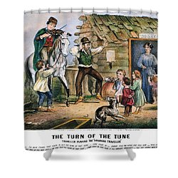 Currier  Ives Folk Tradition Shower Curtain by Granger