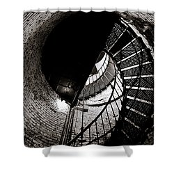 Currituck Spiral II Shower Curtain by David Sutton