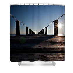 Shower Curtain featuring the photograph Currituck Sunset by David Sutton
