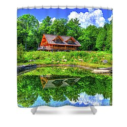 Curtis Vance Memorial Apple Orchard Shower Curtain