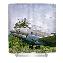 Curtiss C-46 Commando Shower Curtain