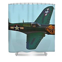 Shower Curtain featuring the photograph Curtiss P-40k Warhawk N401wh Chino California April 29 2016 by Brian Lockett