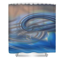 Curved Lines Shower Curtain by Linda Sannuti