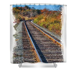 Shower Curtain featuring the photograph Curved Track by Constantine Gregory