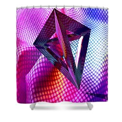 Curves And Angles Shower Curtain