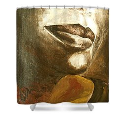 Shower Curtain featuring the painting Curves  by Jane See