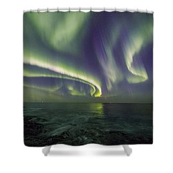 Curvy Auroras Shower Curtain
