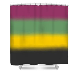 Flower Tones - Sq Block Shower Curtain