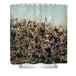 Custer's Last Stand Shower Curtain by Edgar Samuel Paxson