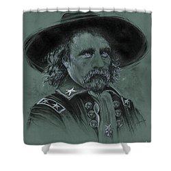 Custer's Resolve Shower Curtain