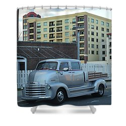 Shower Curtain featuring the photograph Custom Chevy Asbury Park Nj by Terry DeLuco
