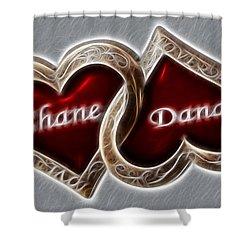 Custom Hearts Shower Curtain