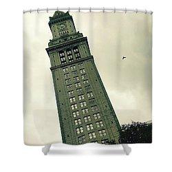 Custom House Tower Shower Curtain