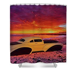 Custom Lead Sled Shower Curtain