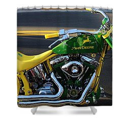 Custom Motorcycle Shower Curtain