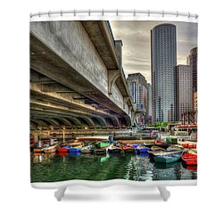 Shower Curtain featuring the photograph Custom Order - Boston Rowing Center by Joann Vitali