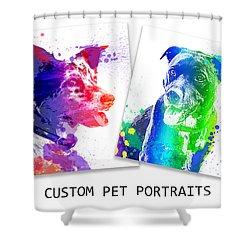 Custom Portrait Shower Curtain