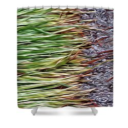 Cut Grass And Pebbles Shower Curtain