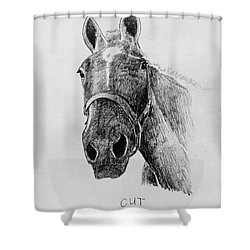 Cut The Horse Shower Curtain