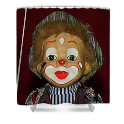 Shower Curtain featuring the photograph Cute Little Clown By Kaye Menner by Kaye Menner