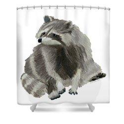 Cute Raccoon Shower Curtain